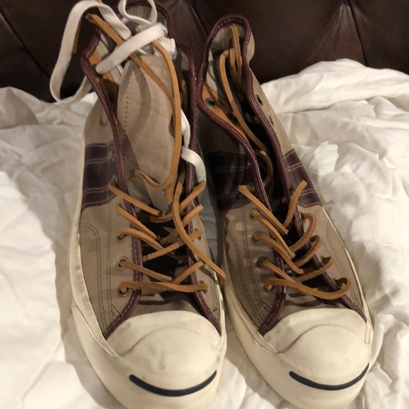 Jack Purcell Leather High Top Shoe Size 13